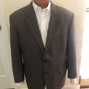 Jos. Abboud Mark Shale Silk/Cashmere Coat SZ 44R